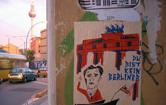 George W Bush in Eastern Berlin