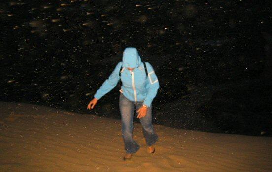 Across the sand dunes in Denmark
