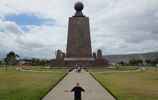 The yellow equator in Ecuador