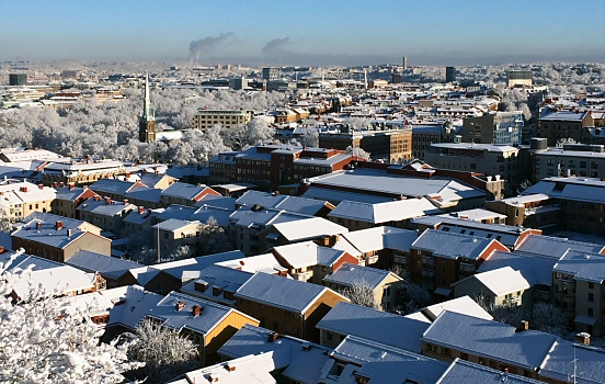 Snow in Gothenburg