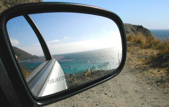 Mirror at Highway One in Big Sur