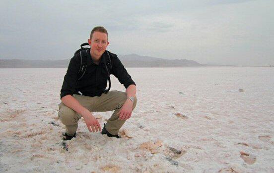 Across the salt lake
