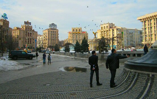 The cobblestones of Maidan Nezalezhnosti