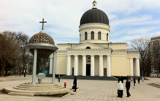 The cathedral in Chisinau, Moldova