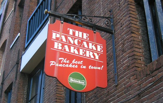 Having pancakes at Prinsengracht