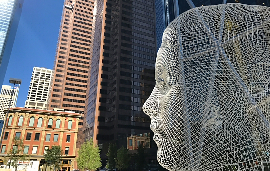 Finding art by Jaume Plensa