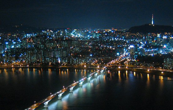 Seoul view from Sky63