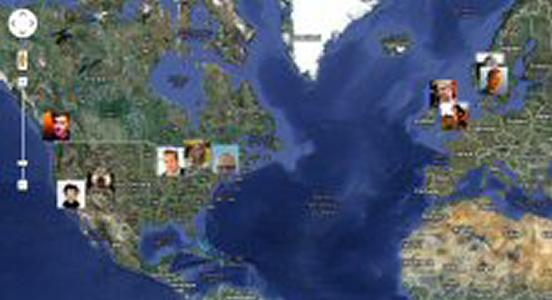Twitter Map screenshot