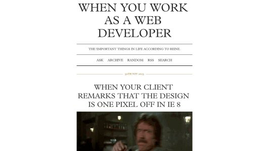 When You Work as a Web Developer