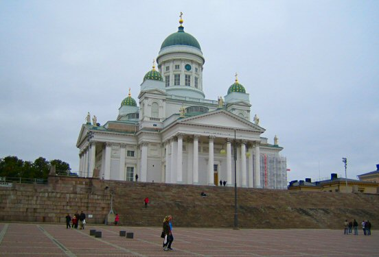 The cathedral at Senate square in Helsinki, Finland