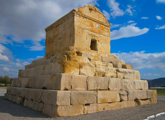 The tomb of Cyrus in Pasargadae