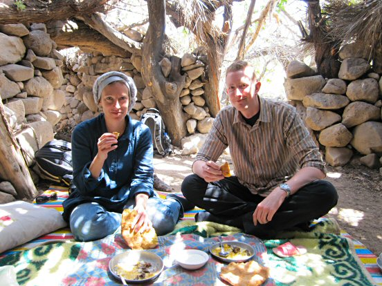 Tina and Reine invited for tea in village somewhere in Meymand