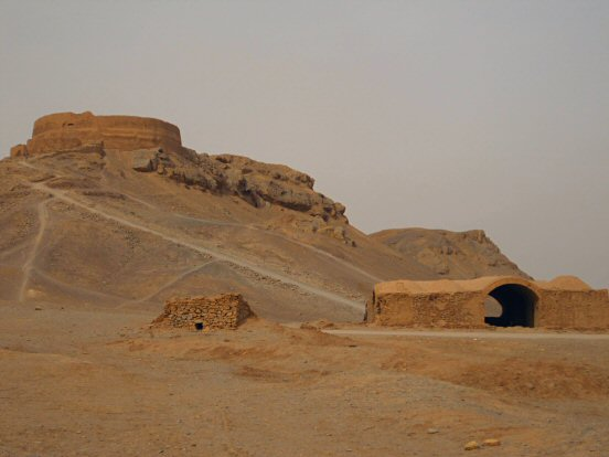 A Tower of Silence south of Yazd