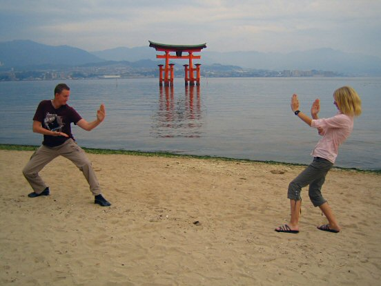 Reine vs Frida at Miyajima island