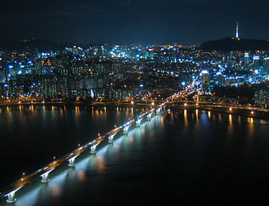 View from 60th floor of 63 Building, Seoul