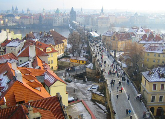 View from West Tower, Malá Strana