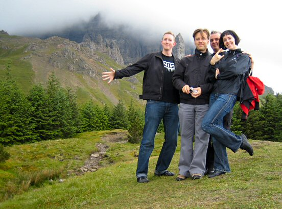Reine, Pär, Rick and Hanna at Isle of Skye